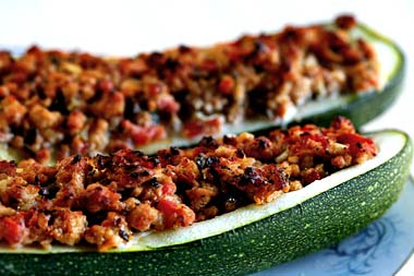 Turkey-stuffed-zucchini